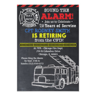 Invitación del retiro del bombero del bombero