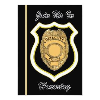 Invitación del retiro del detective de policía