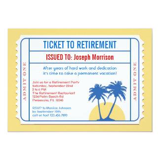Invitación del retiro del estilo del boleto invitación 12,7 x 17,8 cm