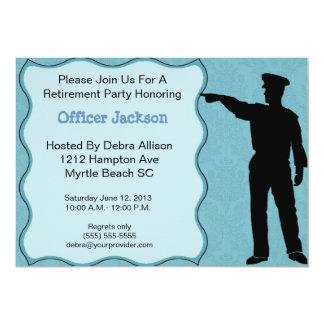 Invitación del retiro del oficial de policía