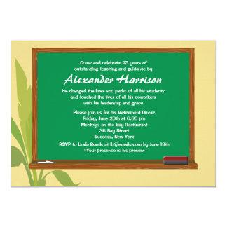 Invitación del retiro del profesor verde de la