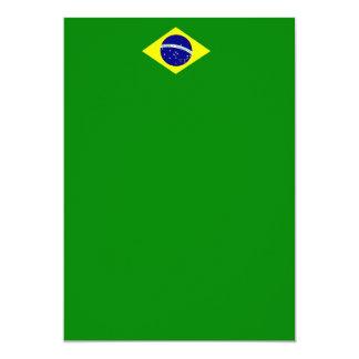 Invitación del retrato de la bandera del Brasil