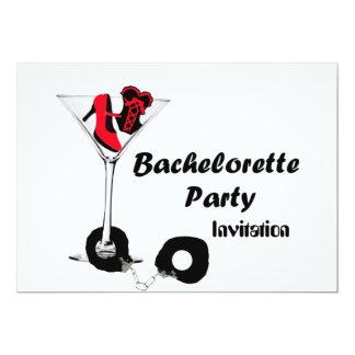 Invitación del rojo del fiesta de Bachelorette