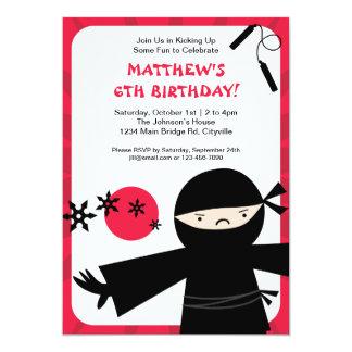 Invitación del rojo del poder de Ninja