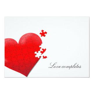 invitación del rompecabezas del amor del corazón