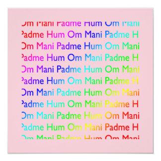 Invitación del ronquido de OM Mani Padme Invitación 13,3 Cm X 13,3cm