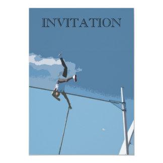 Invitación del saltador de poste