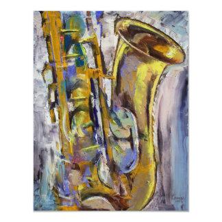 Invitación del saxofón del jazz