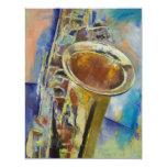 Invitación del saxofón invitación 10,8 x 13,9 cm