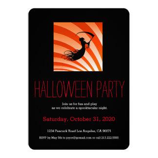 Invitación del segador del fiesta de Halloween