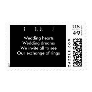 Invitación del sello del boda de la poesía de los