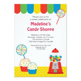 Invitación del Shoppe del caramelo