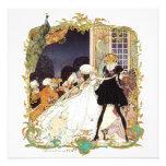 Invitación del siglo XVIII del baile de disfraces