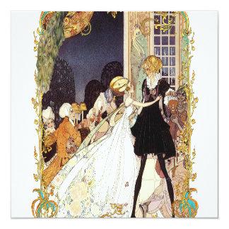 Invitación del siglo XVIII del boda/de disfraces