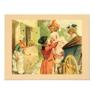 Invitación del siglo XVIII del fiesta de la