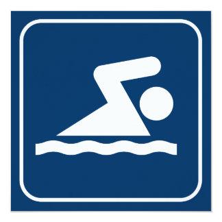 Invitación del símbolo de la nadada