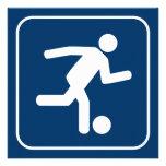 Invitación del símbolo del fútbol del fútbol