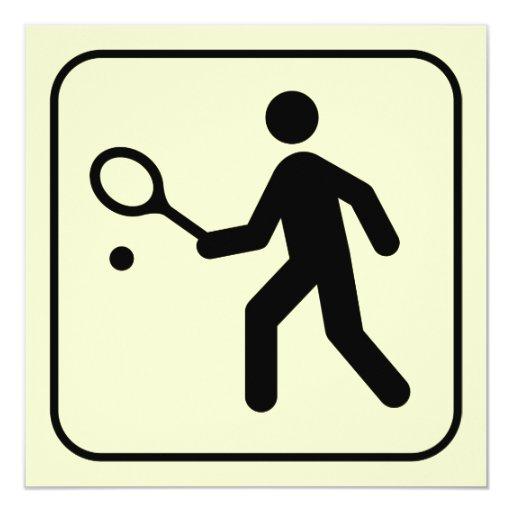 Invitación del símbolo del tenis