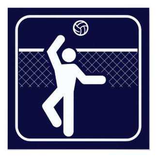 Invitación del símbolo del voleibol