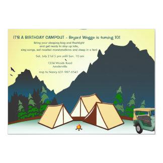 Invitación del sitio para acampar
