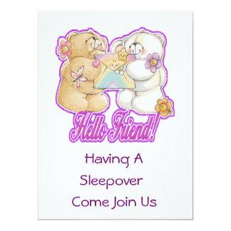 Invitación del Sleepover Invitación 16,5 X 22,2 Cm