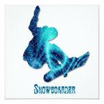 Invitación del Snowboarder Invitación 13,3 Cm X 13,3cm