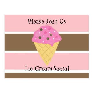 Invitación del Social del helado Tarjetas Postales