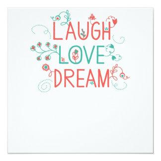 Invitación del sueño de la risa del amor
