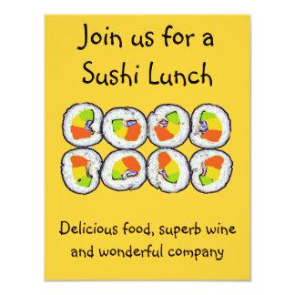 Invitación del sushi del sushi