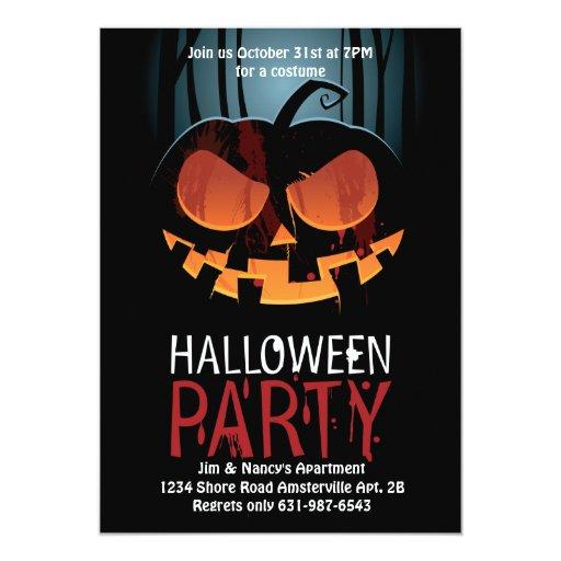 Invitación del susto de Halloween