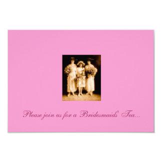 Invitación del té de las damas de honor