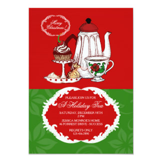 Invitación del té del navidad