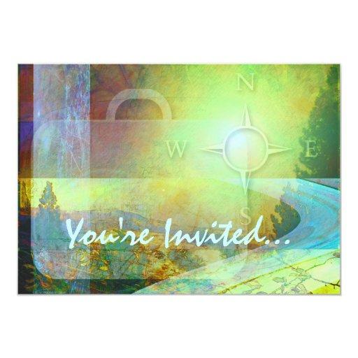 Invitación del tema del viaje