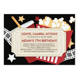 Invitación del tiempo de película - para los invitación 12,7 x 17,8 cm