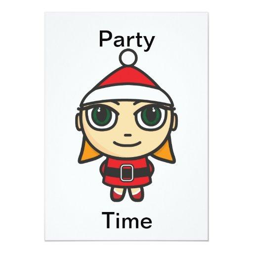 Invitación del tiempo del fiesta del carácter del
