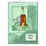 Invitación del tiempo del fiesta tarjetas