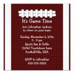 Invitación del tiempo del partido de fútbol invitación 13,3 cm x 13,3cm