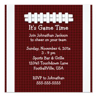 Invitación del tiempo del partido de fútbol