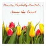 Invitación del tiempo del tulipán invitación 13,3 cm x 13,3cm