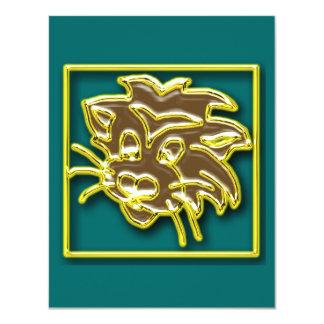 Invitación del tigre invitación 10,8 x 13,9 cm