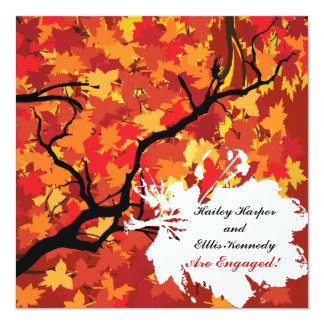 Invitación del toldo del otoño