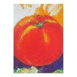 Invitación del tomate invitación 12,7 x 17,8 cm