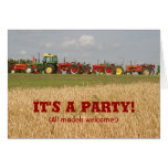 Invitación del tractor: Toda la recepción de los m Tarjetas