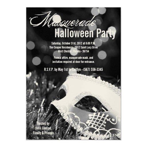 invitación del traje de Halloween de la mascarada