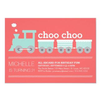 Invitación del tren de Choo Choo