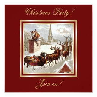 Invitación del trineo del reno de Papá Noel del