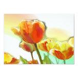 Invitación del tulipán del arco iris invitación 12,7 x 17,8 cm