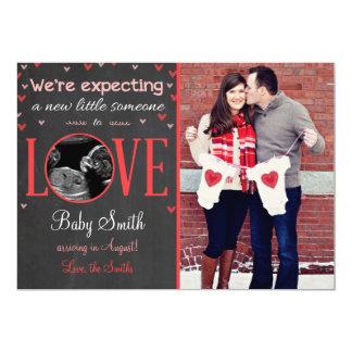 Invitación del ultrasonido del embarazo del amor