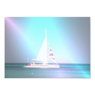 Invitación del velero del catamarán