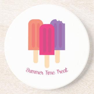 Invitación del verano posavasos para bebidas